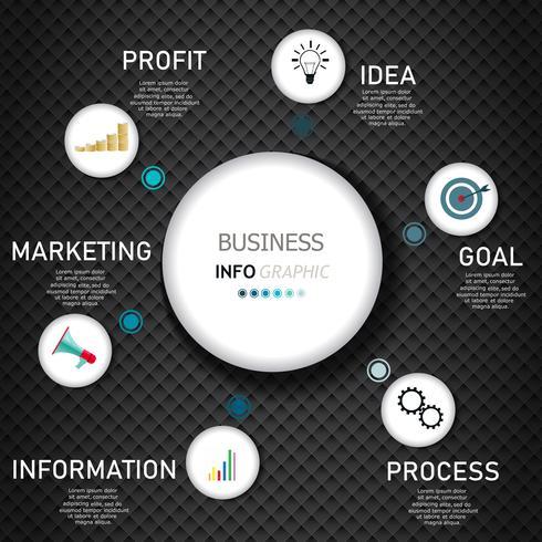 Infographie conception de vecteur et icônes marketing