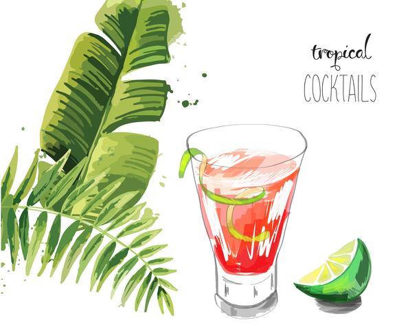cocktail. vecteur