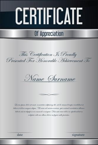 Modèle de conception moderne de certificat ou de diplôme vecteur