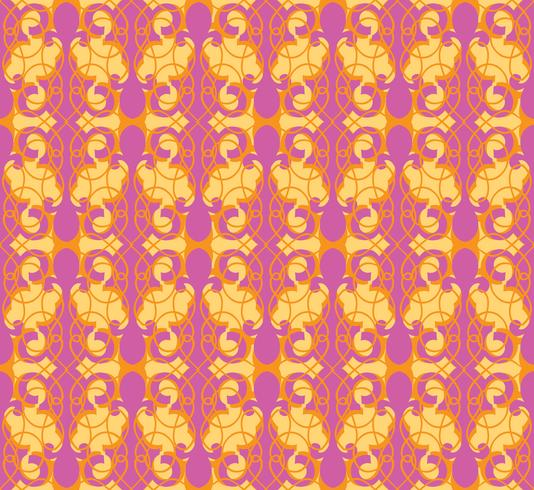 Modèle sans couture abstraite. Ornement de ligne tourbillon rétro. vecteur