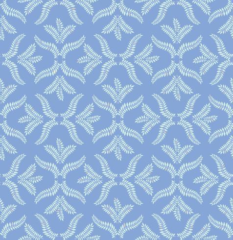 Motif de carreaux floraux. Ornement rétro de brocart. Flourish feuilles en toile de fond vecteur