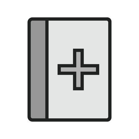 Conception d'icône de livre médical vecteur
