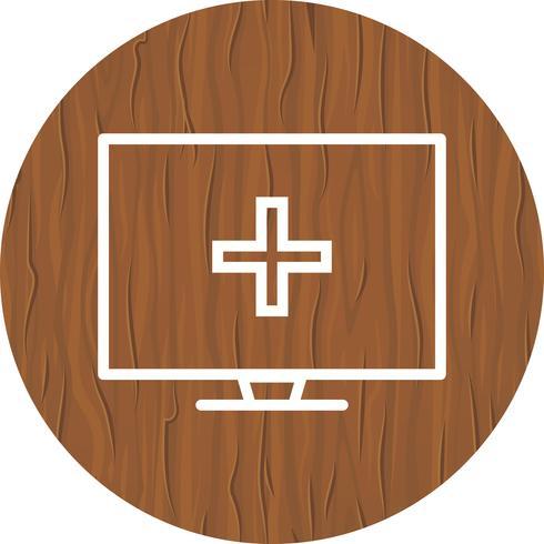 Conception d'icône d'aide médicale en ligne vecteur
