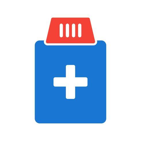 Conception d'icône de bouteille de médecine vecteur