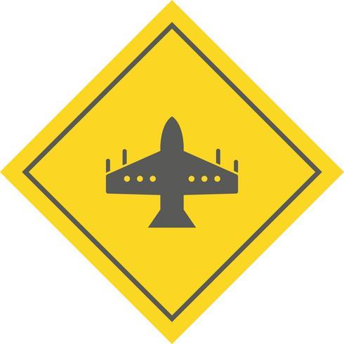 conception d'icône de jet de chasse vecteur