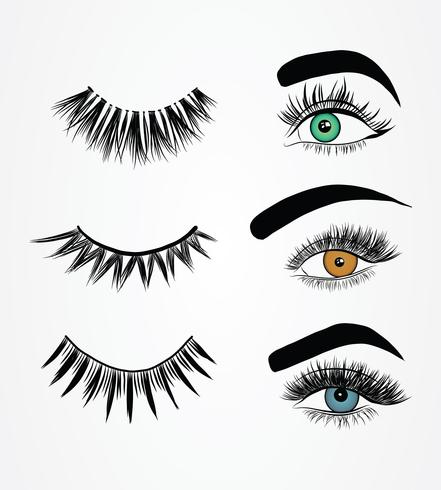 Faux cils Styles Pack Vector