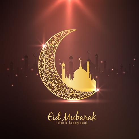 Résumé Eid Mubarak Fond religieux islamique vecteur