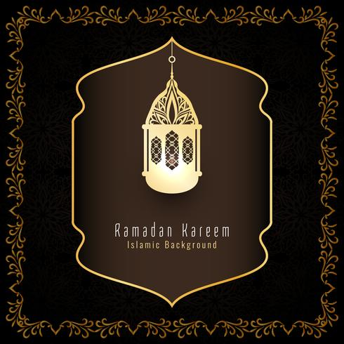 Résumé Ramadan Kareem fond de voeux islamique vecteur