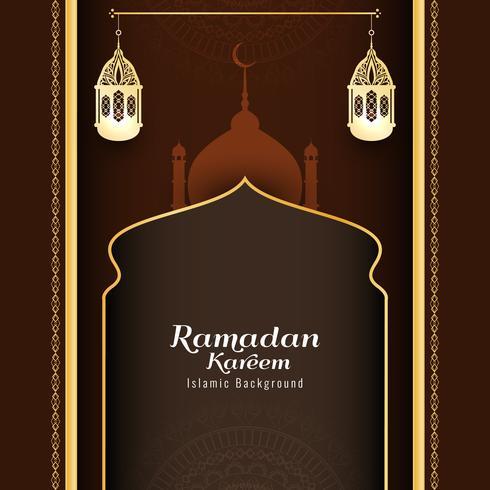 Abstrait de vecteur islamique Ramadan Kareem
