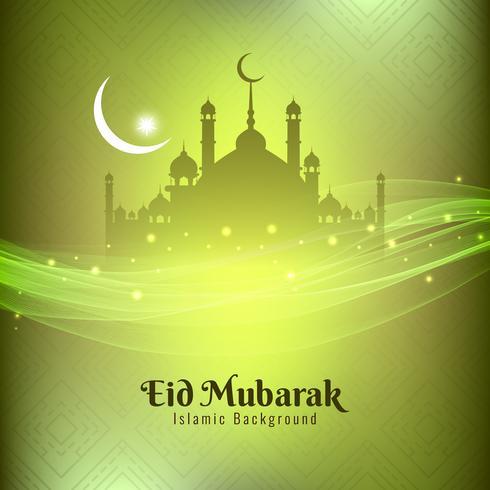 Abstrait élégant design de fond de festival Eid Mubarak vecteur