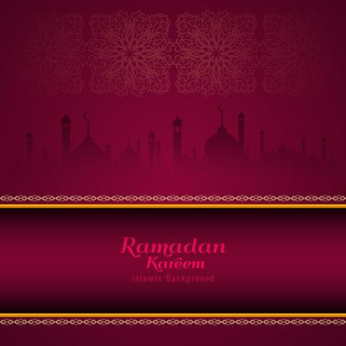 Abstrait religieux Ramadan Kareem élégant vecteur