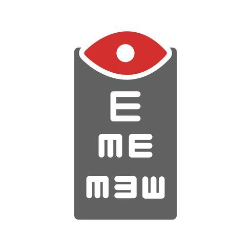 conception d'icône de test oculaire vecteur