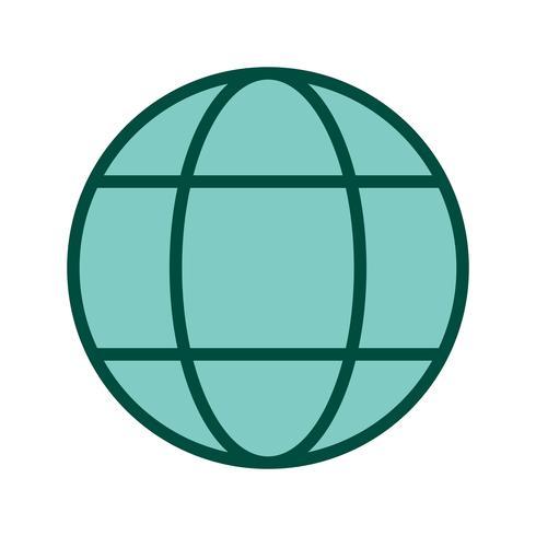 conception d'icône de globe vecteur
