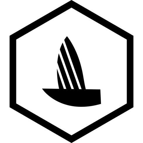 Conception d'icône de yacht vecteur