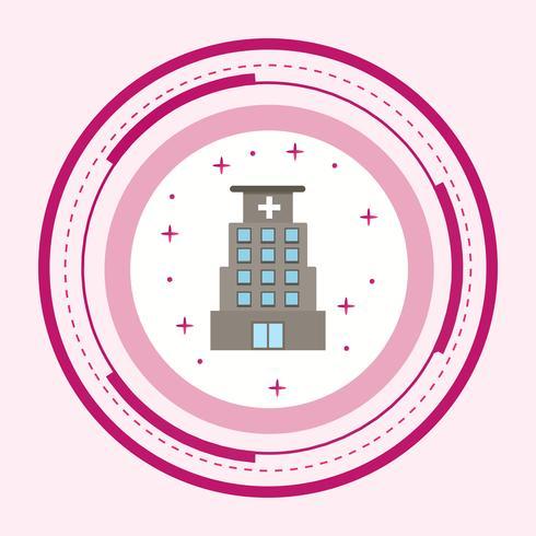 Conception d'icônes d'hôpital vecteur