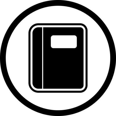 conception d'icône de cahier vecteur