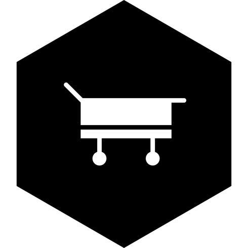Civière icône design vecteur