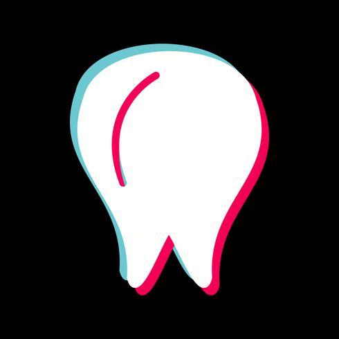 Conception d'icône de dent vecteur