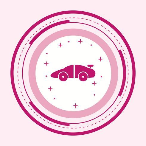 Conception d'icône de voiture de sport vecteur