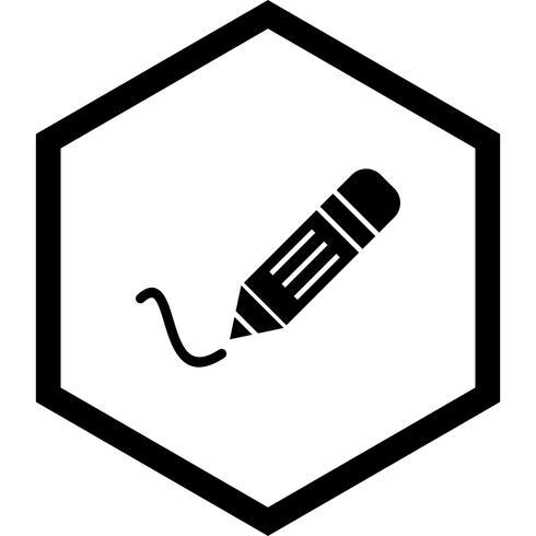 Conception d'icônes d'écriture vecteur