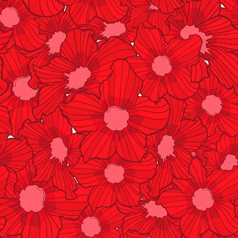 modèle sans couture de fleur, texture de fond de fleur, modèle sans couture florale vecteur