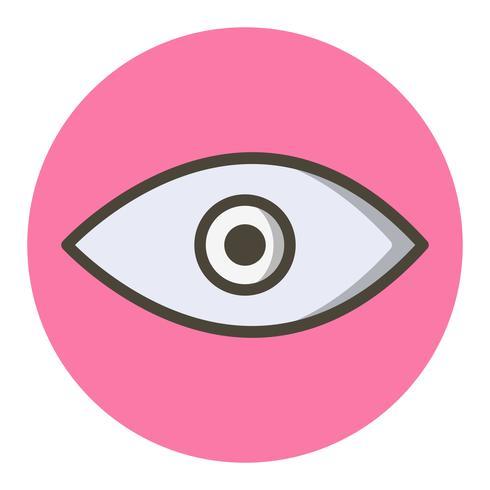 Conception d'icône d'oeil vecteur