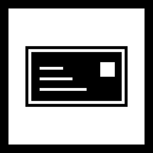Conception d'icône de carte d'identité vecteur