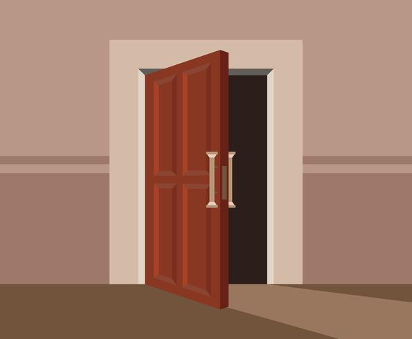 Illustration de portes vecteur