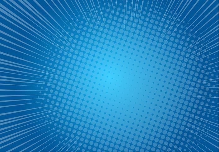 Fond bleu pop art, illustration de rayons de vitesse rétro ligne vitesse - vecteur