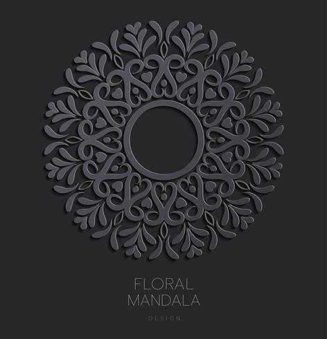 Conception élégante de carte Save The Date. Modèle de carte invitation floral vintage. Mandala de luxe tourbillon vecteur