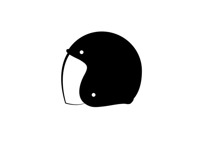Modèle de conception de logo vectoriel de casque cycliste.