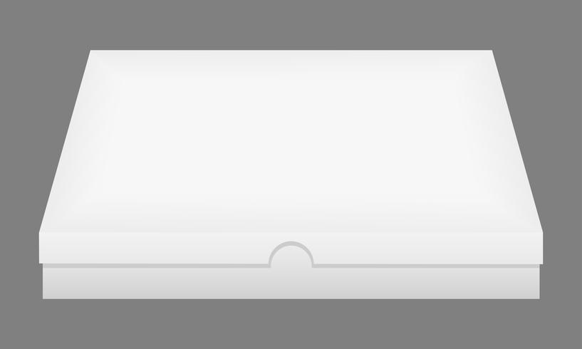 illustration vectorielle de boîte fermée blanc vecteur