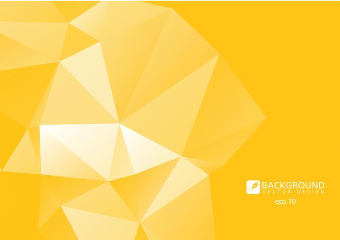 Jaune abstrait géométrique froissé triangulaire low poly style illustration vectorielle fond graphique vecteur