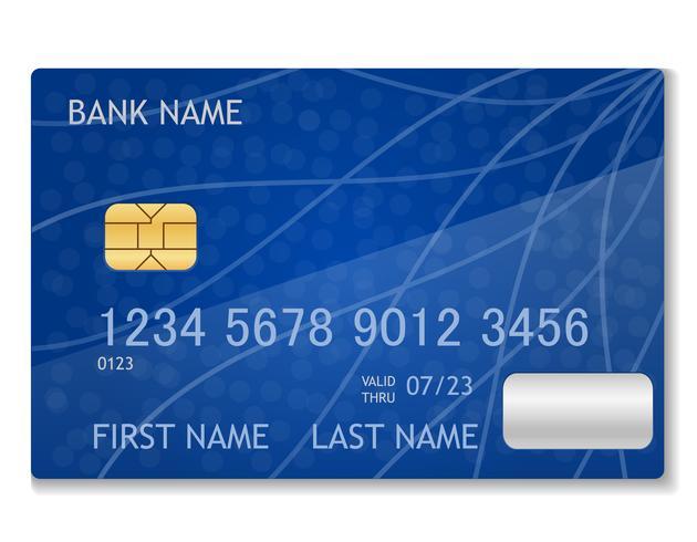 illustration vectorielle stock carte bancaire vecteur