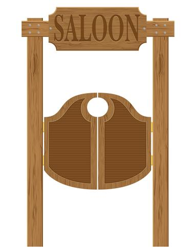 portes en illustration vectorielle western western saloon ouest vecteur