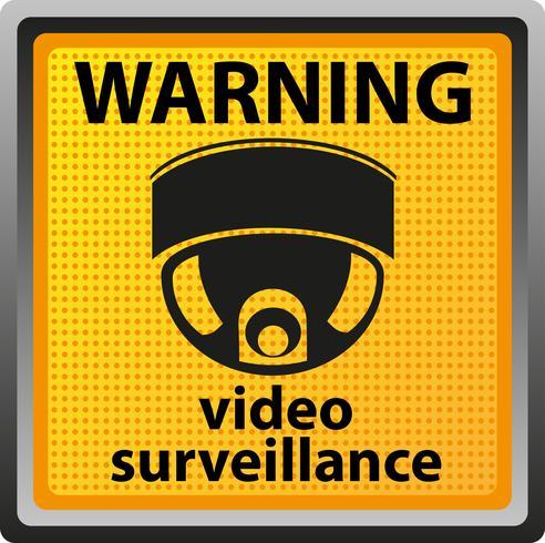 signe d'avertissement de la caméra de surveillance vecteur