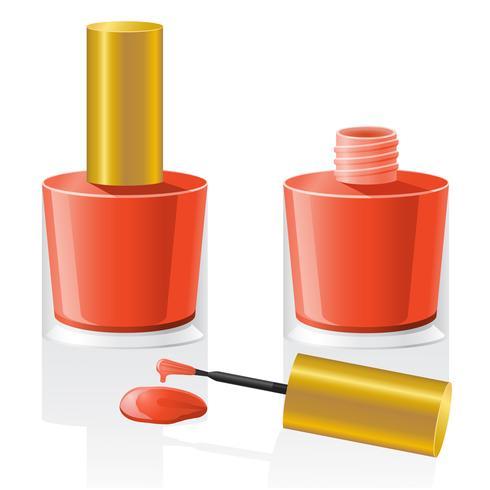 illustration vectorielle de vernis à ongles vecteur