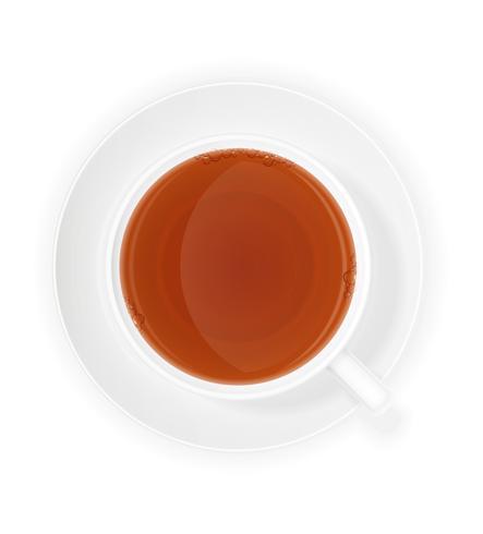 tasse en porcelaine d'illustration vectorielle de thé vecteur