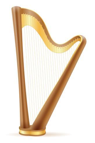 harpe illustration vectorielle stock vecteur