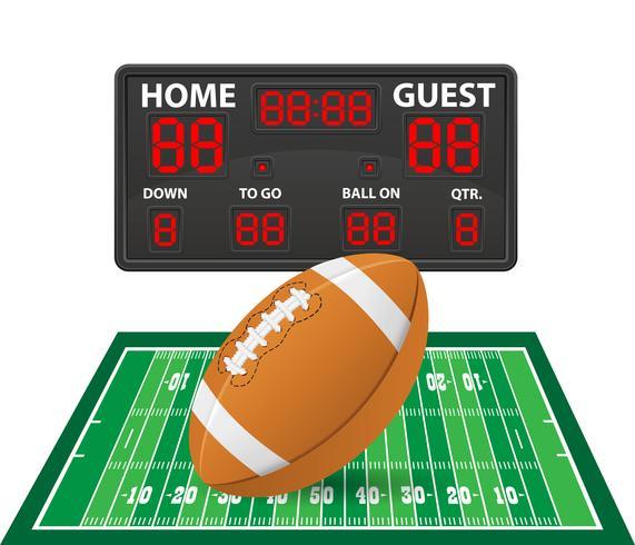 illustration vectorielle de football américain sport tableau de bord numérique vecteur