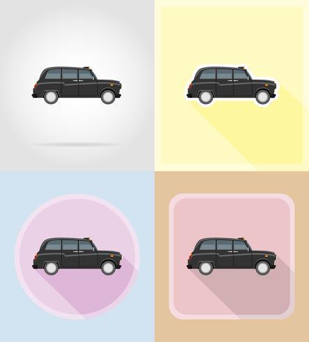 vieilles icônes plat de voiture rétro vector illustration