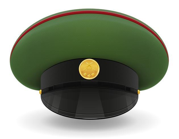 casquette uniforme professionnelle ou illustration vectorielle militaire vecteur