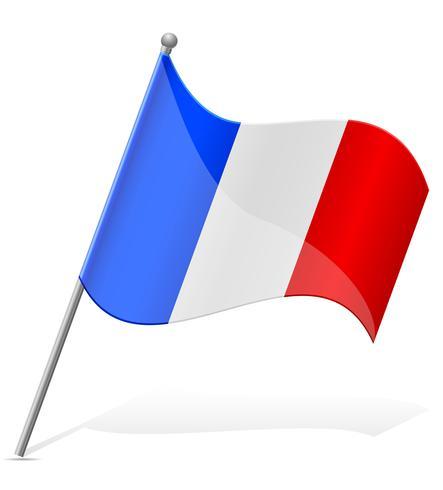 drapeau de l'illustration vectorielle france vecteur