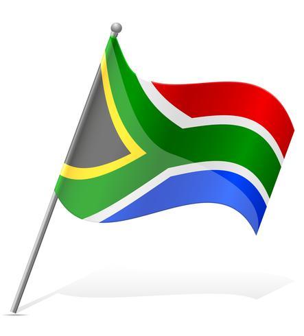 drapeau de l'illustration vectorielle sud-africaine vecteur