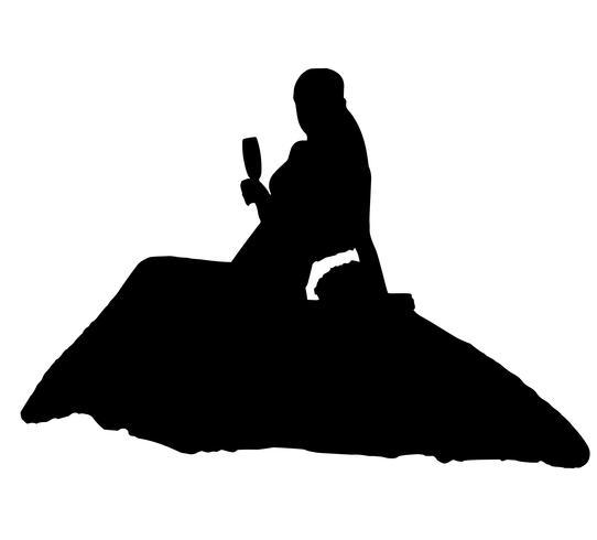 illustration vectorielle de mariée silhouette réaliste vecteur