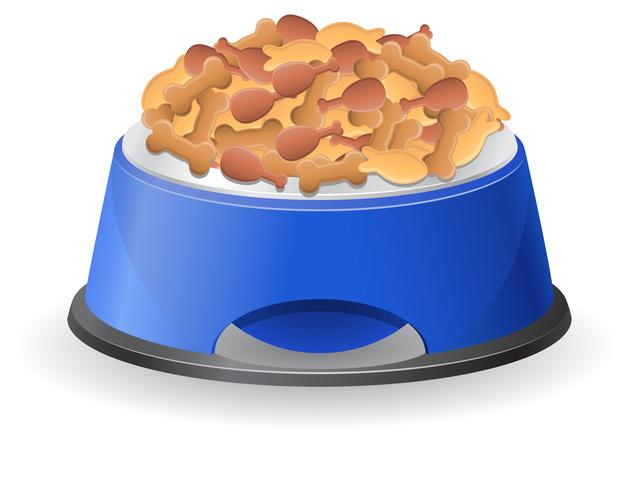 bol de chien avec illustration vectorielle de nourriture vecteur