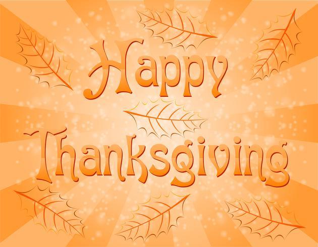 illustration vectorielle de texte joyeux thanksgiving vecteur