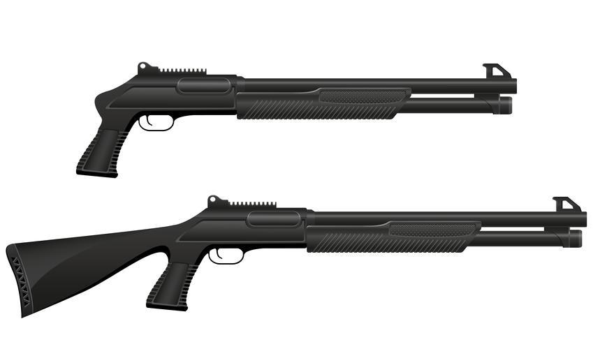 illustration vectorielle de fusil de chasse vecteur