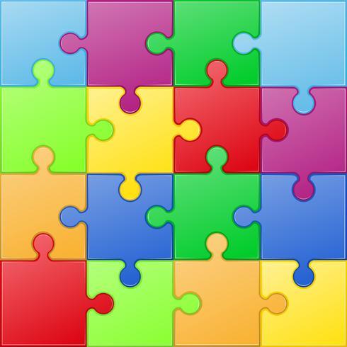 illustration vectorielle puzzle carré vecteur