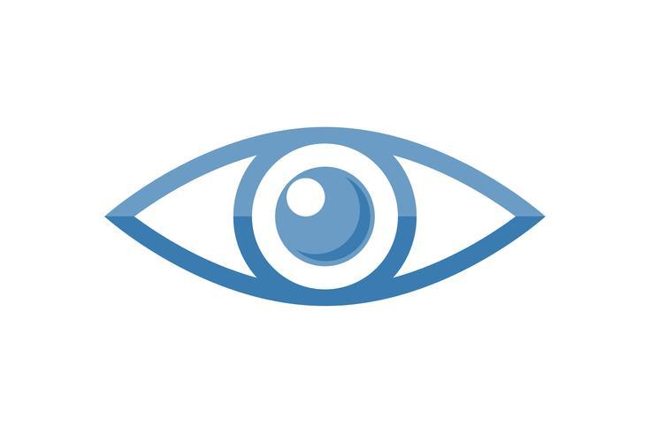 logo de l'oeil pour illustration vectorielle de la clinique d'ophtalmologie vecteur